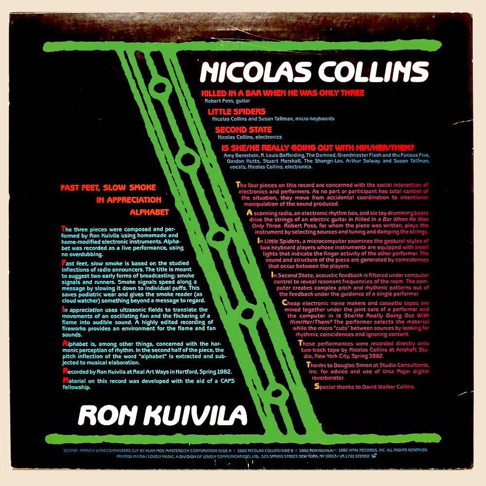 Ron Kuivila Nicolas Collins Going Out With Slow Smoke
