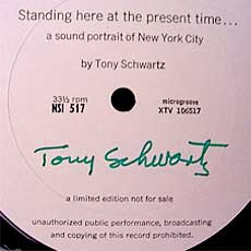 A Tony Schwartz limited edition, unofficial LP