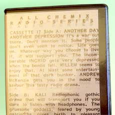 'Another Day Another Depression/Kali' cassette box