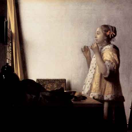 Johannes Vermeer 'Woman With A Pearl Necklace' (c.1662-65)