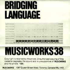 Musicworks #38 front cover