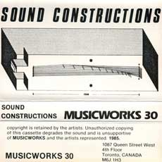 Musicworks #30 cassette cover