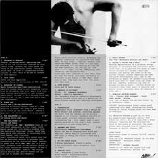'Vivisection' LP back cover