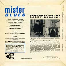 'Mister Blues' back cover
