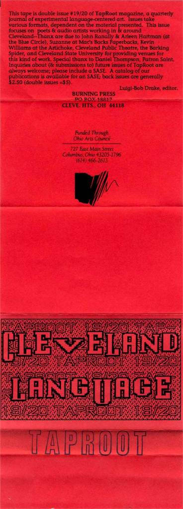 Cleveland Language k7 front cover