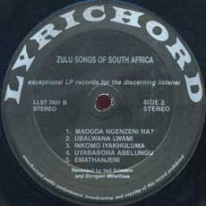 Zulu Songs side 2