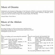 'Music of Oceania' LP back cover