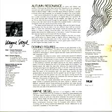 Autumn Resonances LP back cover