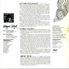 Autumn Resonances LP back cover