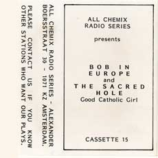 'Bob in Europe/The Sacred Hole' cassette cover
