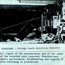 'Chicago Death Excretion Geometry' cover