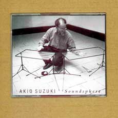 Akio Suzuki 'Soundsphere' CD back cover showing the De Koolmees instrument