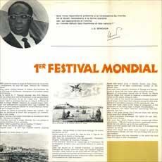 '1er Festival Mondial des Arts Nègres' spread