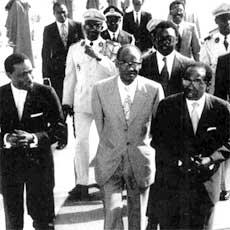 Diop, Senghor and Cissé Dia, Dakar 1966