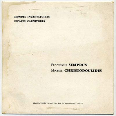 'Mondes Incantatoires et Espaces Carnivores' front cover
