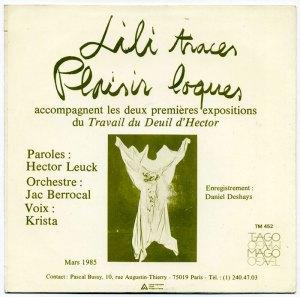 'Lili Traces b/w Plaisir Loques' back cover
