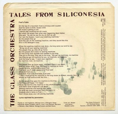 'Tales from Siliconesia' back cover