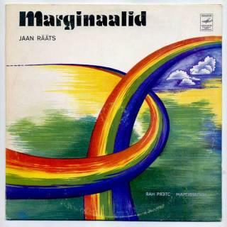 Jaan Rääts 'Marginaalid' LP front cover