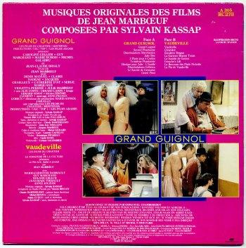 'Grand Guignol & Vaudeville' LP back cover