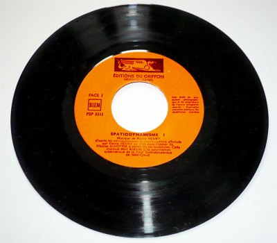 Pierre Henry's Spatiodynamisme 7'' single side 1