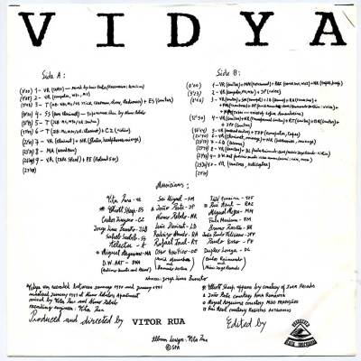 Vidya LP liner notes
