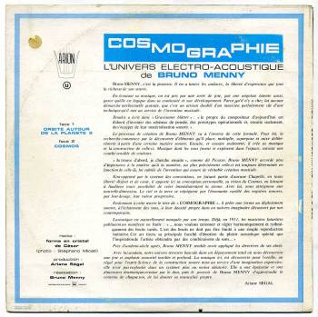 'Cosmographie' LP front cover