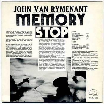 John Van Rymenant 'Memory Stop' LP back cover