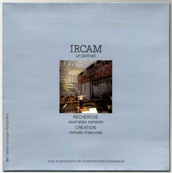 IRCAM-Un Portrait LP cover