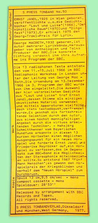 13 Radiophone Texte liner notes