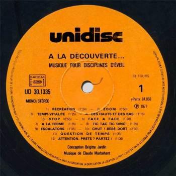 'A La Découverte...' side 1