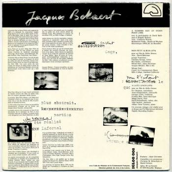 Jacques Bekaert LP back