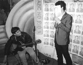 Joseph Nechvatal with Leonard Abrams