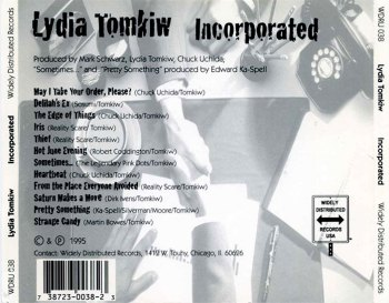 Lydia Tomkiw 'Incorporated' CD inlay