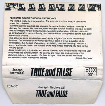 True and False cassette cover