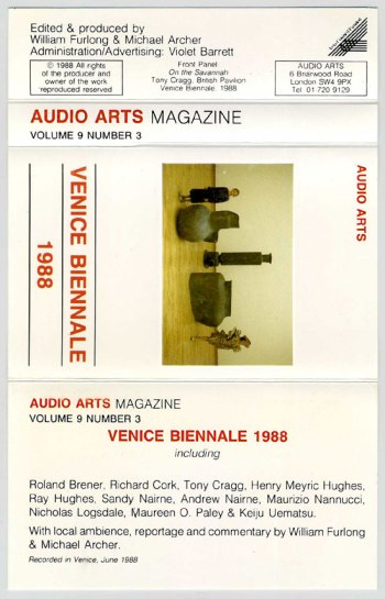 Audio Arts Magazine - Vol 9 Number 3 cassette cover spread