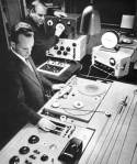Eimert with sound engineer Leopold von Knobelsdorff