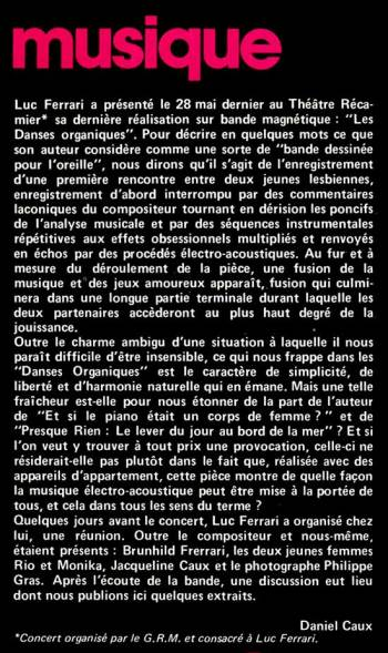Introduction by Daniel Caux