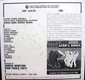 Africa Nera Africa Rossa LP back cover