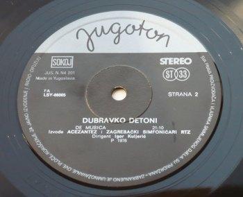 Dubravko Detoni s/t Jugoton LP side B