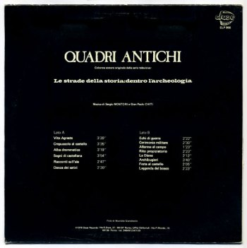 Quadri Antichi LP back cover