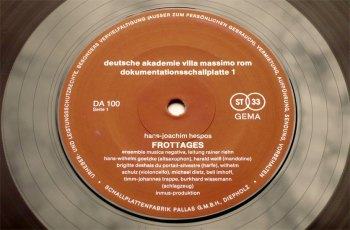 Frottages/Zeitschnitte 10 inch side 1