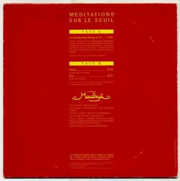 Madhya 'Méditations Sur Le Seuil' LP back cover