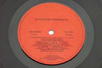 Situations Sonores '76 LP side 1