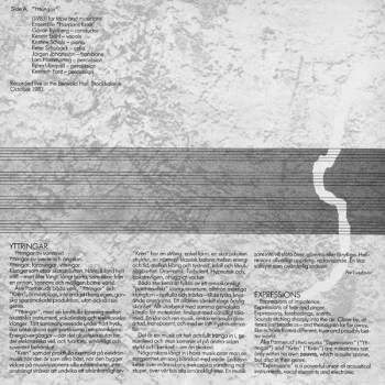 Åke Parmerud - Yttringar LP back cover