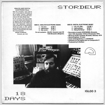 André Stordeur '18 Days' LP back cover