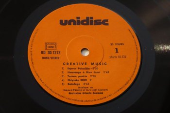 Creative Music LP side A