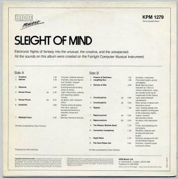 Sleight of Mind LP back cover