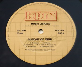 Sleight of Mind LP side A