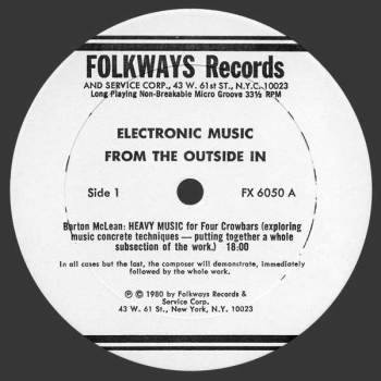 Electronic Music side 1