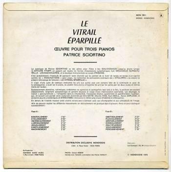Patrice Sciortino - Le Vitrail Eparpillé LP back cover